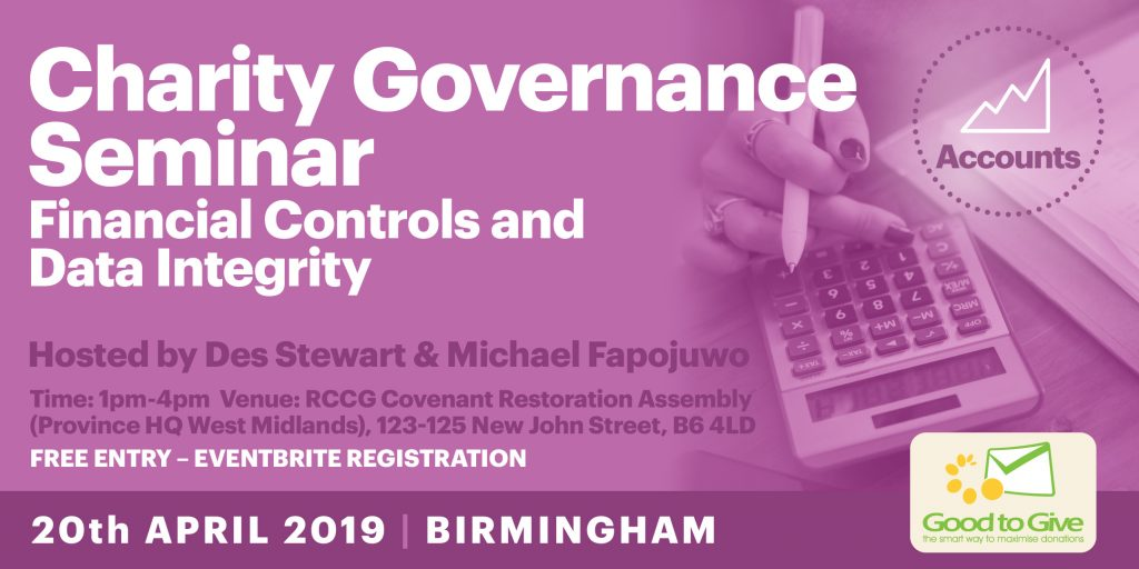 Charity Governance Seminar - 27th April 2019